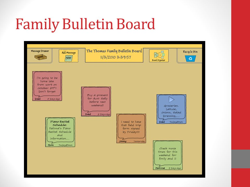 Family Bulletin Board