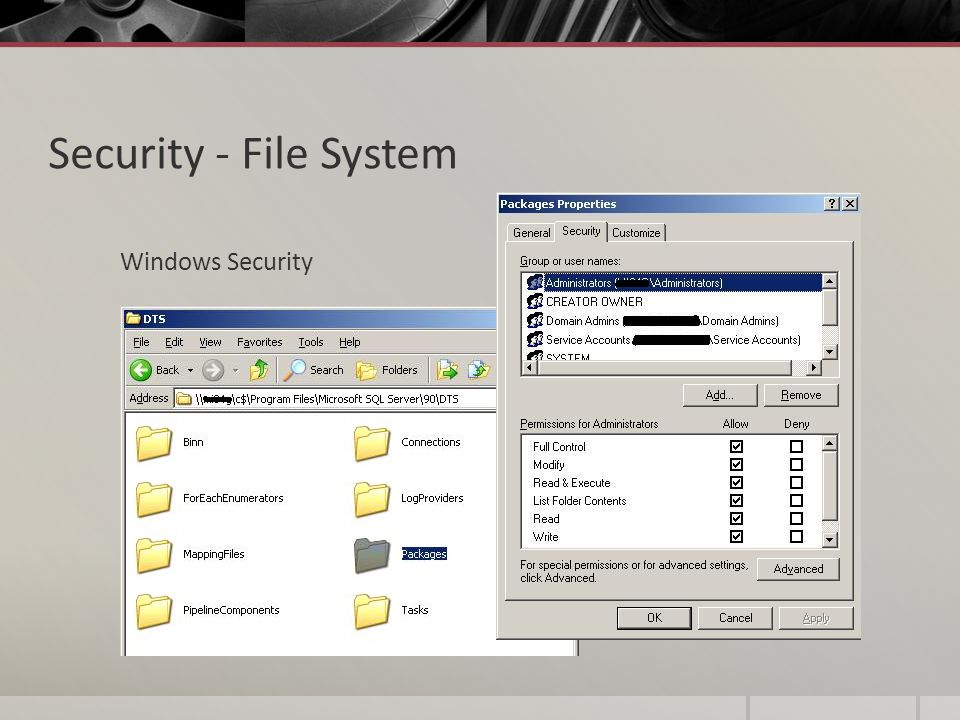 Security - File System Windows Security