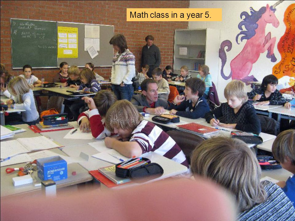 Math class in a year 5.