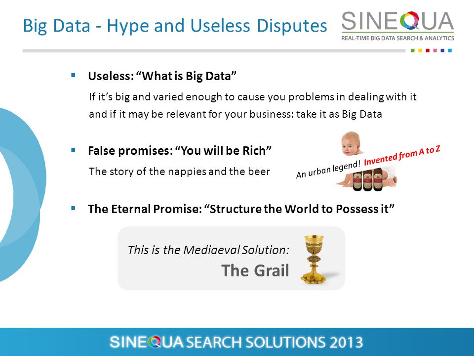 Big Data - Hype and Useless Disputes Useless: What is Big Data If its big and varied enough to cause you problems in dealing with it and if it may be
