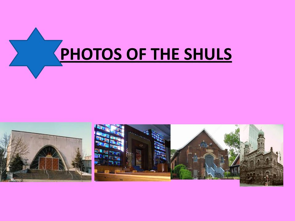 PHOTOS OF THE SHULS