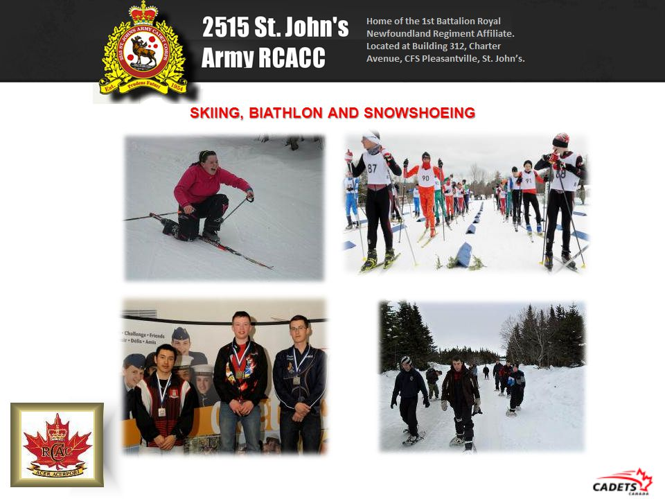 SKIING, BIATHLON AND SNOWSHOEING