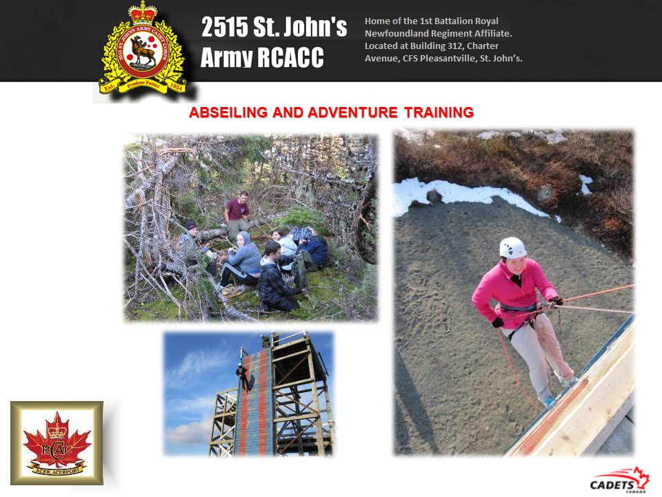 ABSEILING AND ADVENTURE TRAINING