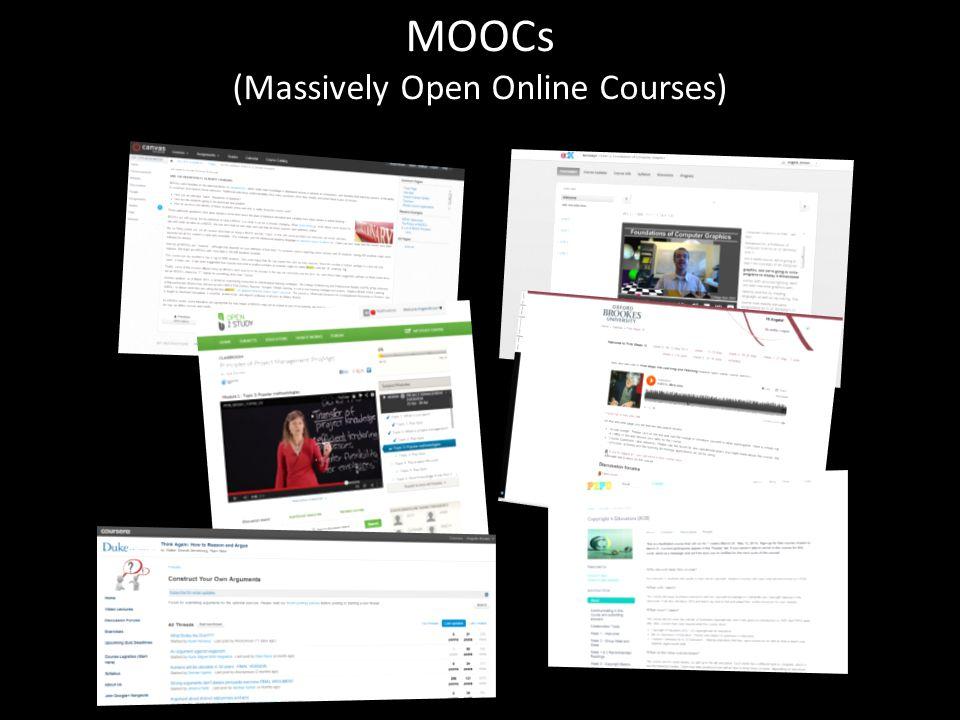 MOOCs (Massively Open Online Courses)