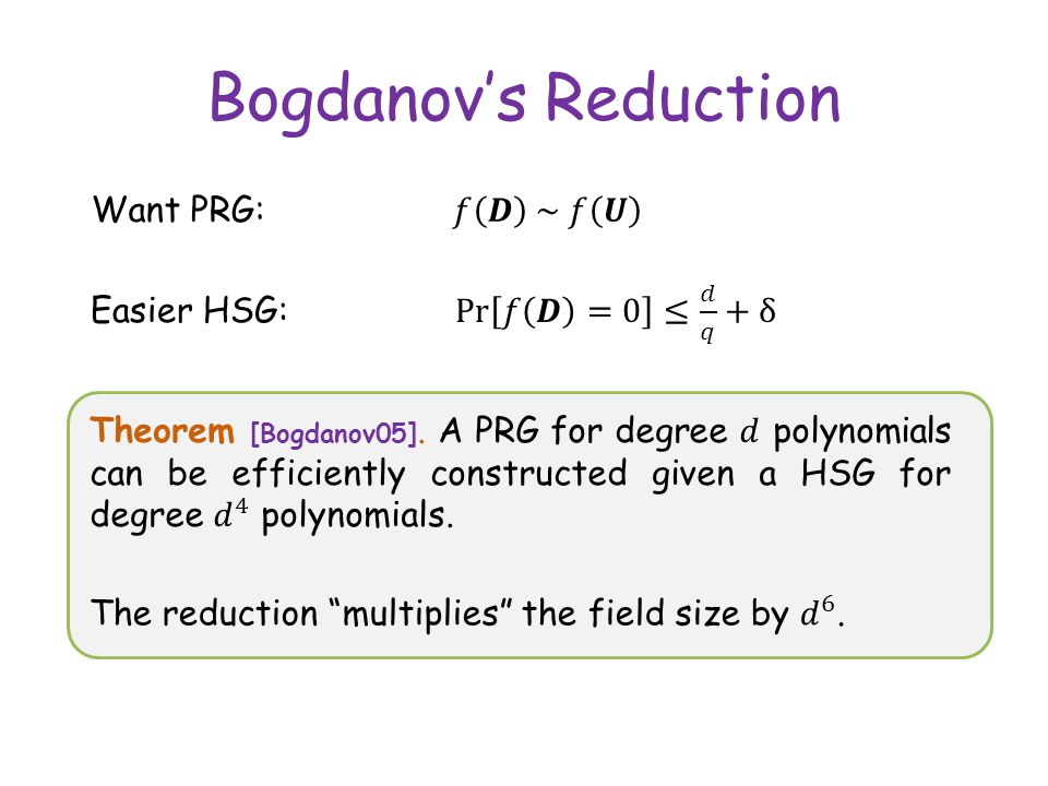 Bogdanovs Reduction