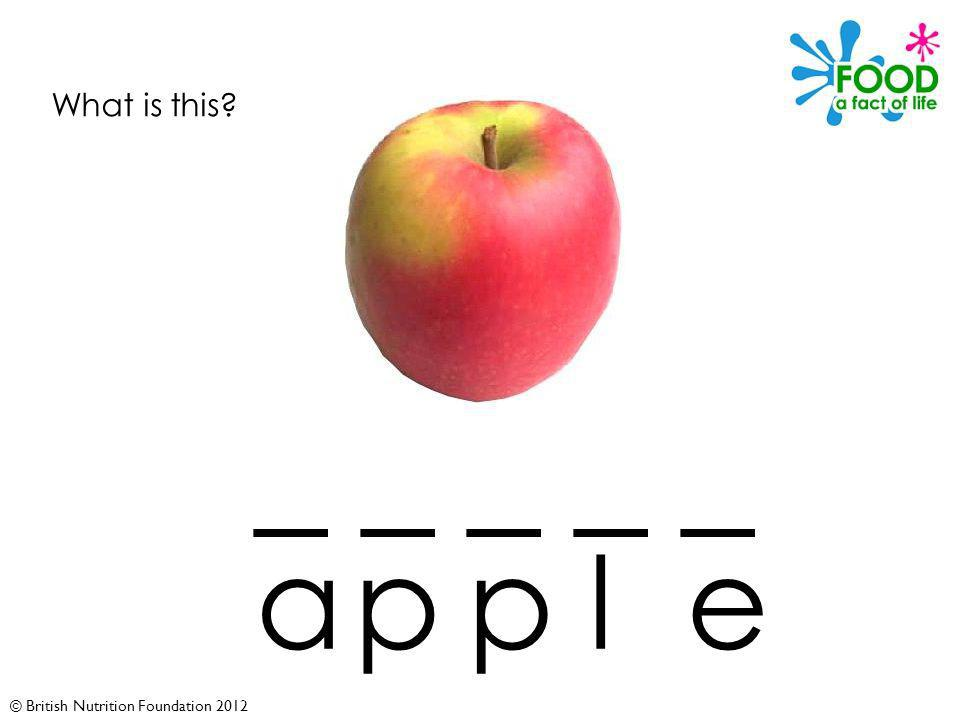 © British Nutrition Foundation 2012 What is this _ _ _ _ _ apple