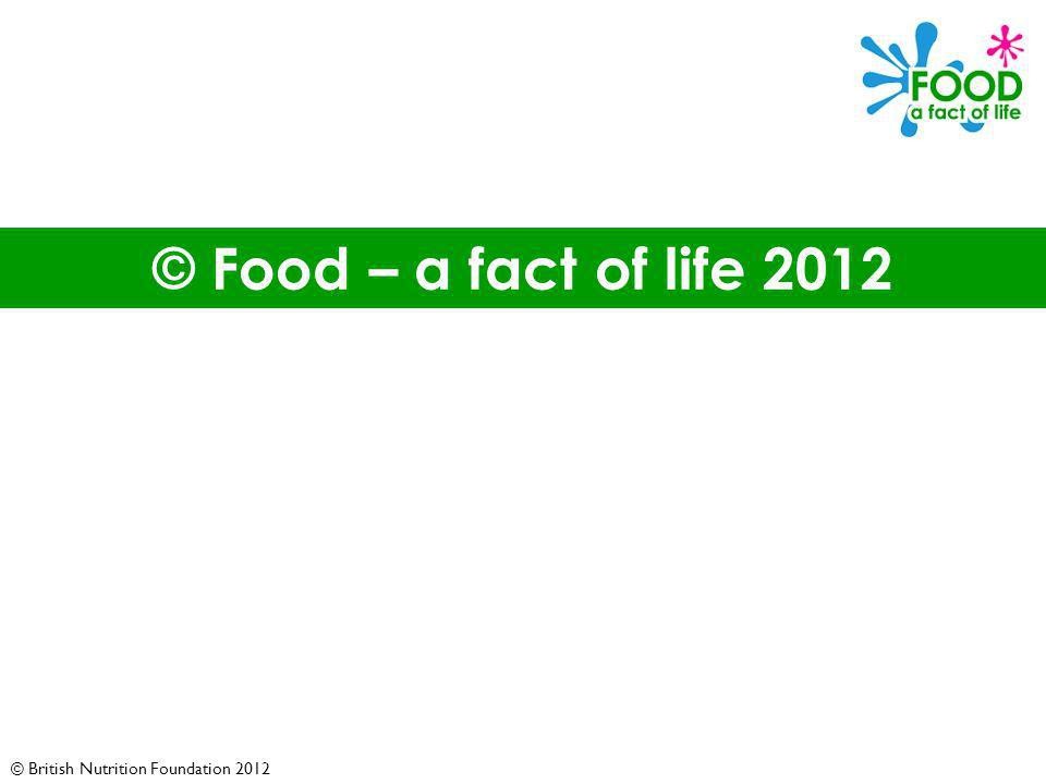 © British Nutrition Foundation 2012 © Food – a fact of life 2012