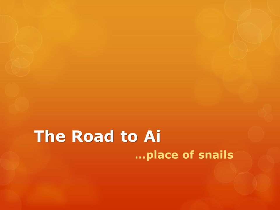 The Road to Ai …place of snails