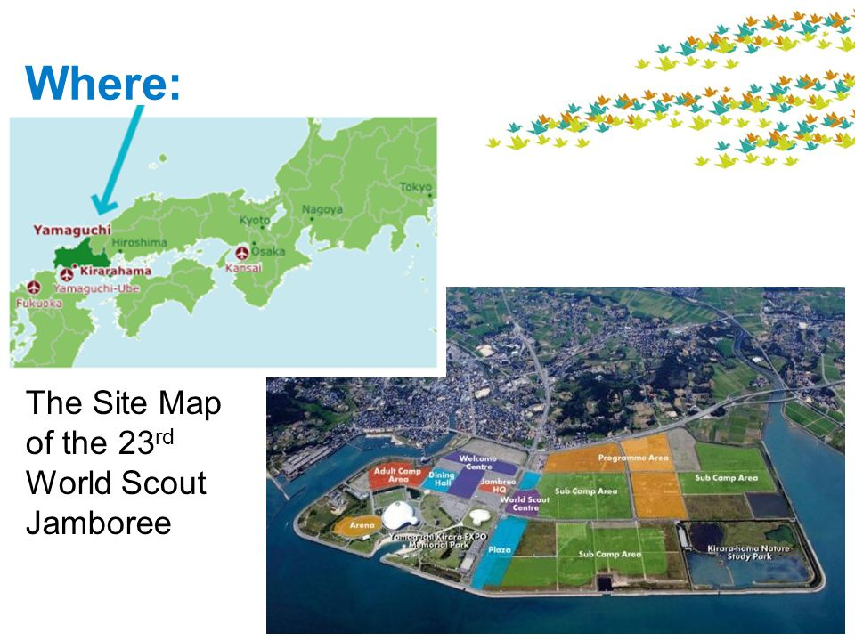 The Site Map of the 23 rd World Scout Jamboree