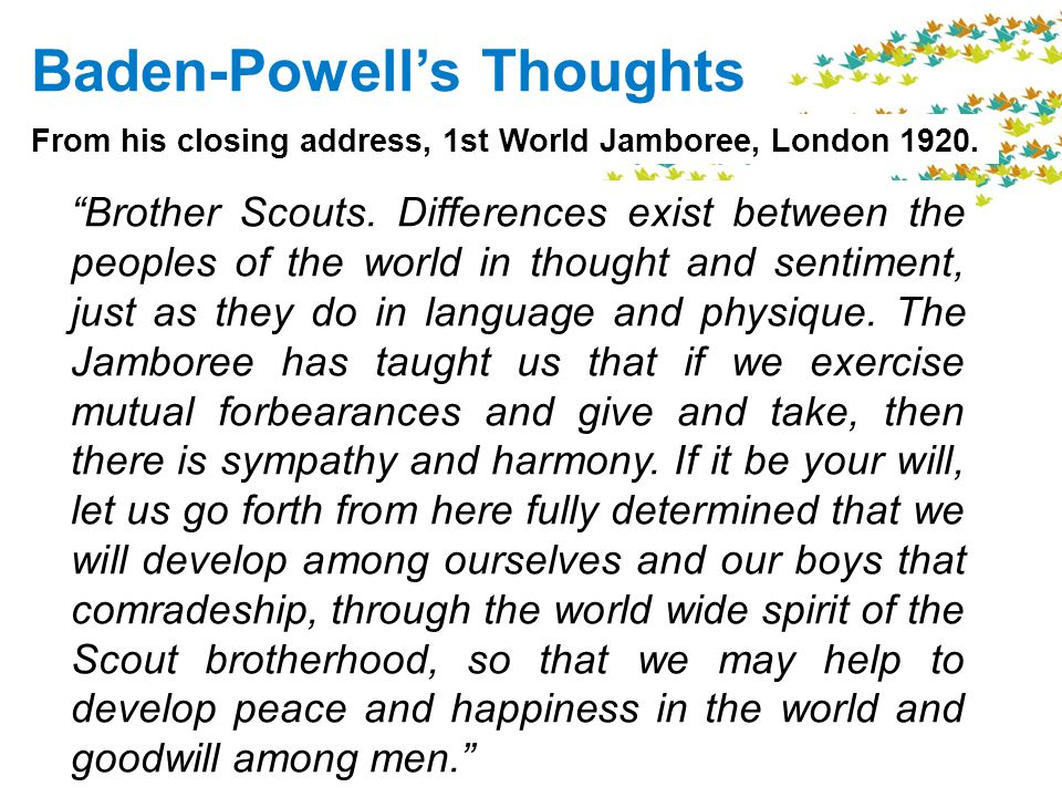 Baden-Powells Thoughts Brother Scouts.