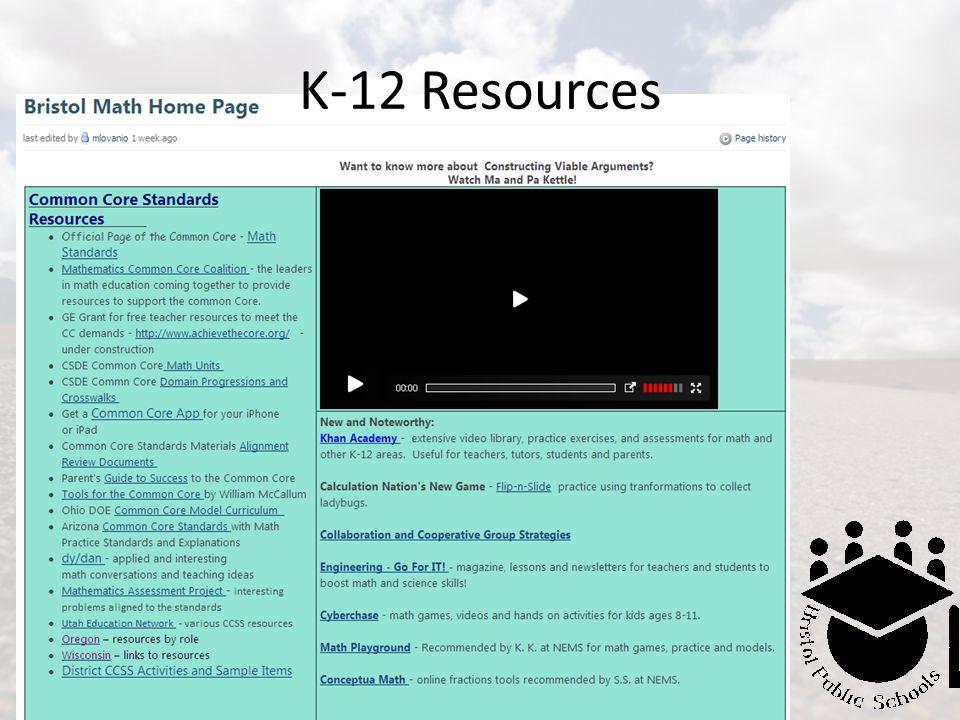 K-12 Resources