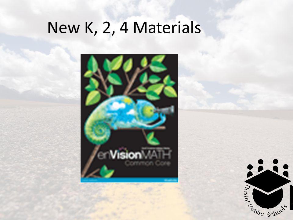 New K, 2, 4 Materials
