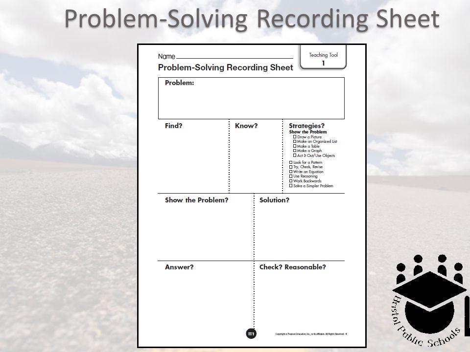 Problem-Solving Recording Sheet