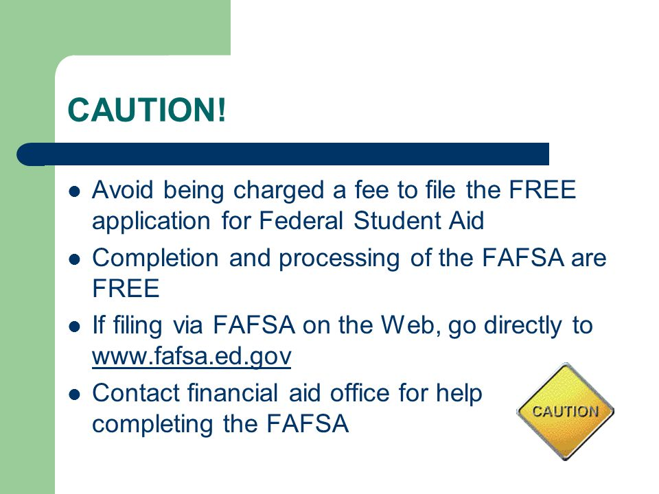 FAFSA Processing Results Central Processing System (CPS) notifies student of FAFSA processing results by: -Paper Student Aid Report (SAR) if paper FAFSA was filed and students e-mail address was not provided -SAR Information Acknowledgement if filed electronically via FAFSA on the Web