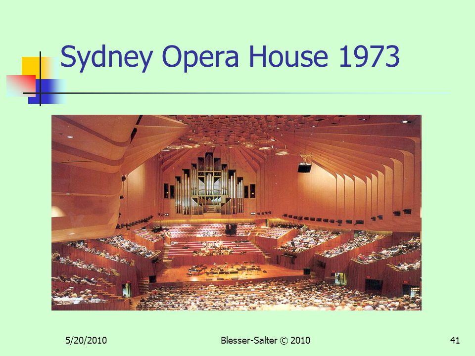 5/20/2010Blesser-Salter © 201041 Sydney Opera House 1973