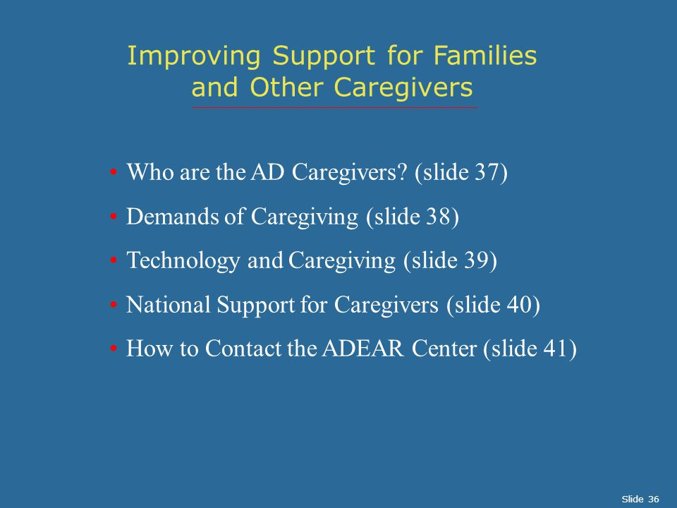 Who are the AD Caregivers.