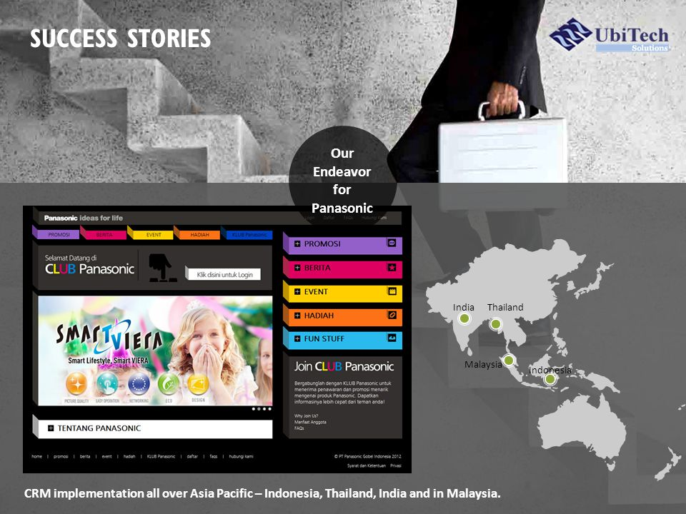 SUCCESS STORIES CRM implementation all over Asia Pacific – Indonesia, Thailand, India and in Malaysia.