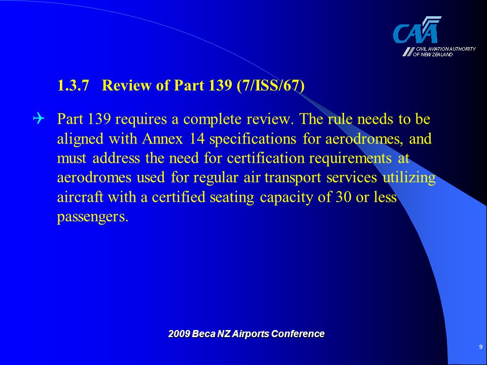Aerodrome Certification Rule Design Proposal Level 3 - Aerodromes used for scheduled air transport operations by aircraft having a certified seating capacity of 30 or less passengers but more than 9 passengers (i.e.: Part 125 operations).