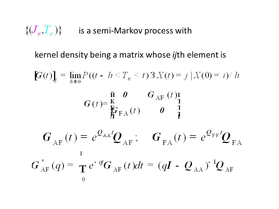 kernel density being a matrix whose ijth element is is a semi-Markov process with