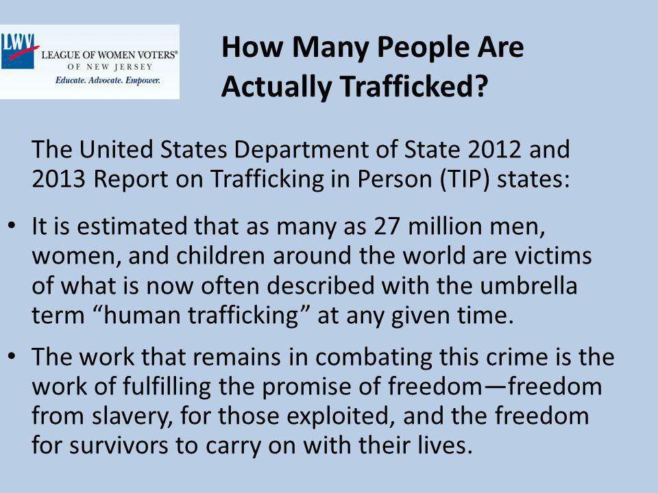 How Many People Are Actually Trafficked.