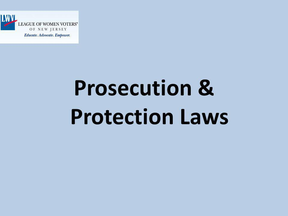 Prosecution & Protection Laws