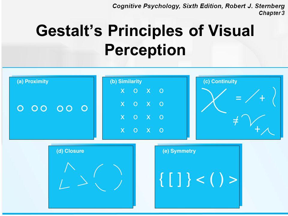 Cognitive Psychology, Sixth Edition, Robert J. Sternberg Chapter 3 Gestalts Principles of Visual Perception