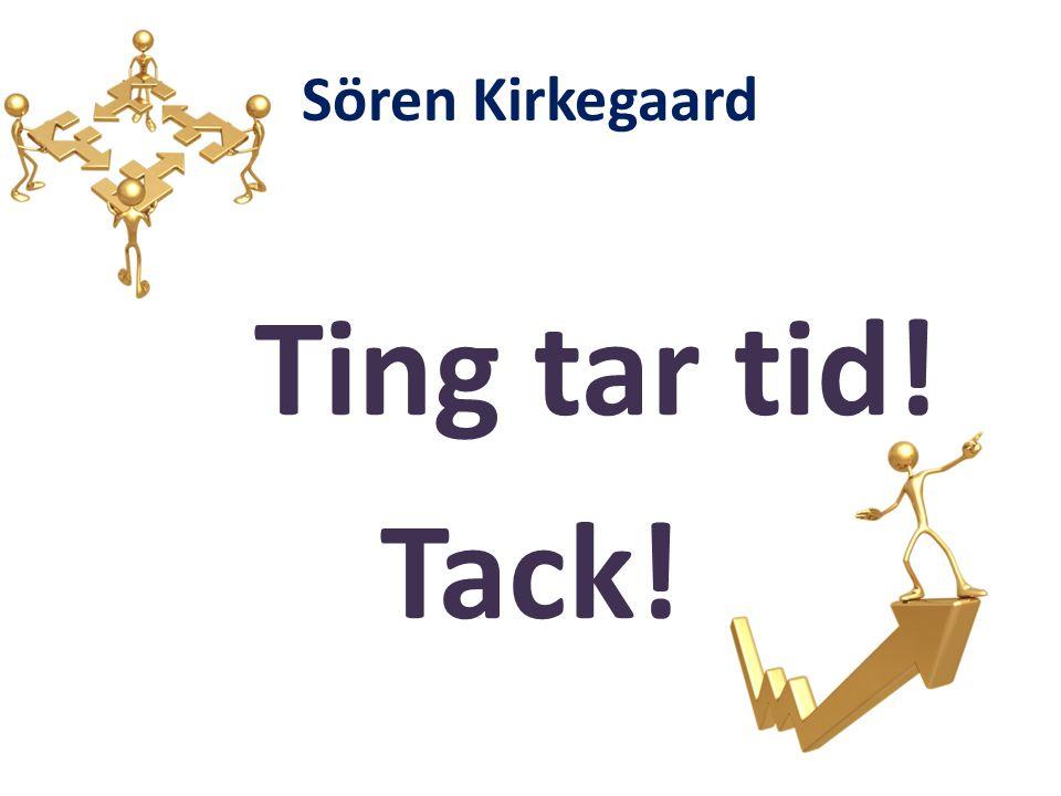 Sören Kirkegaard Ting tar tid! Tack!
