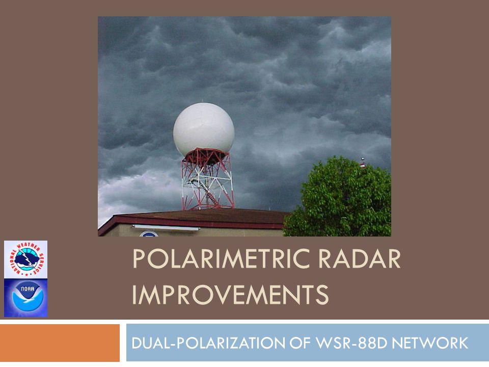 POLARIMETRIC RADAR IMPROVEMENTS DUAL-POLARIZATION OF WSR-88D NETWORK
