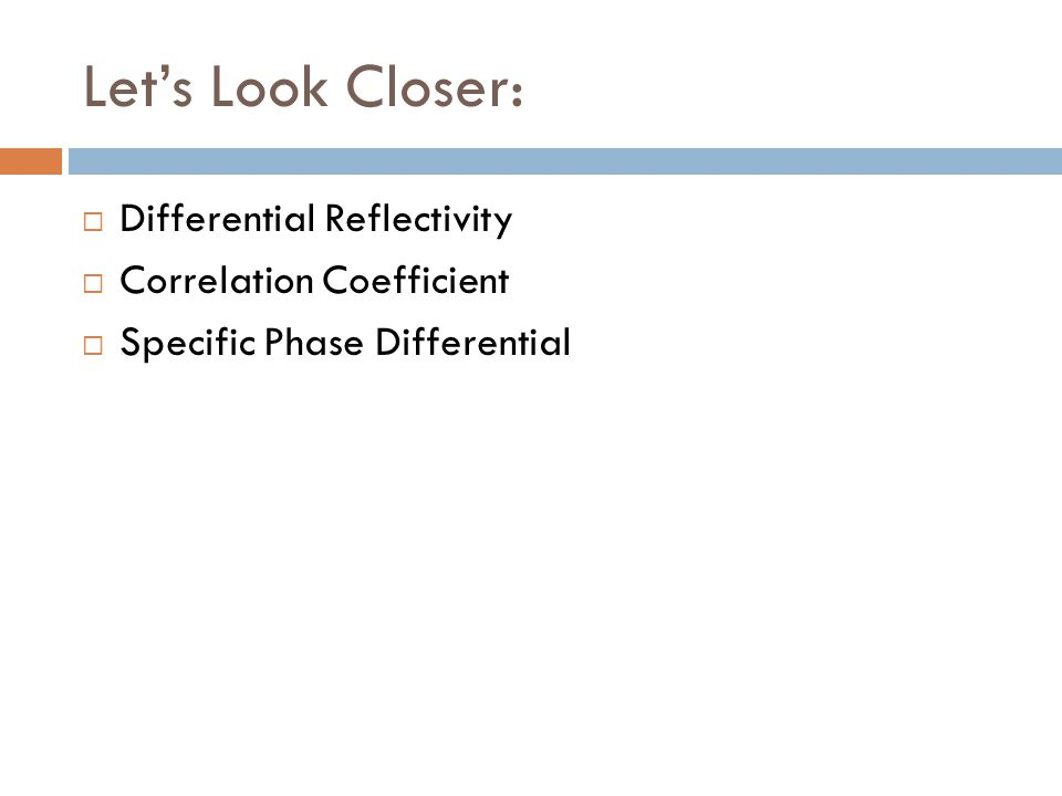 Lets Look Closer: Differential Reflectivity Correlation Coefficient Specific Phase Differential