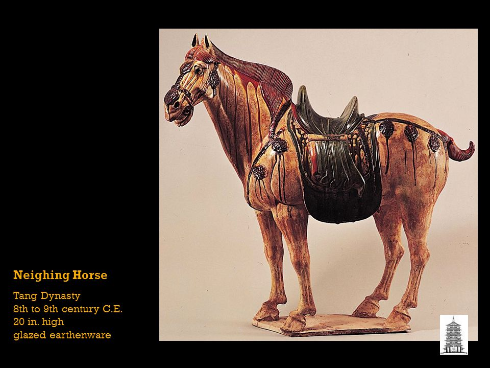 Neighing Horse Tang Dynasty 8th to 9th century C.E. 20 in. high glazed earthenware