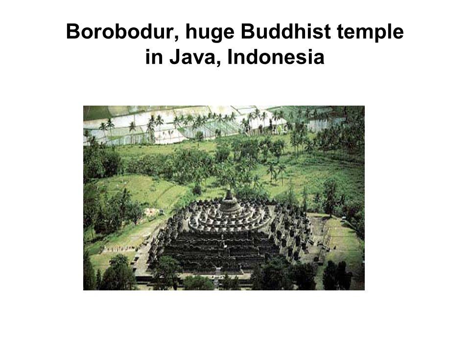 Borobodur, huge Buddhist temple in Java, Indonesia