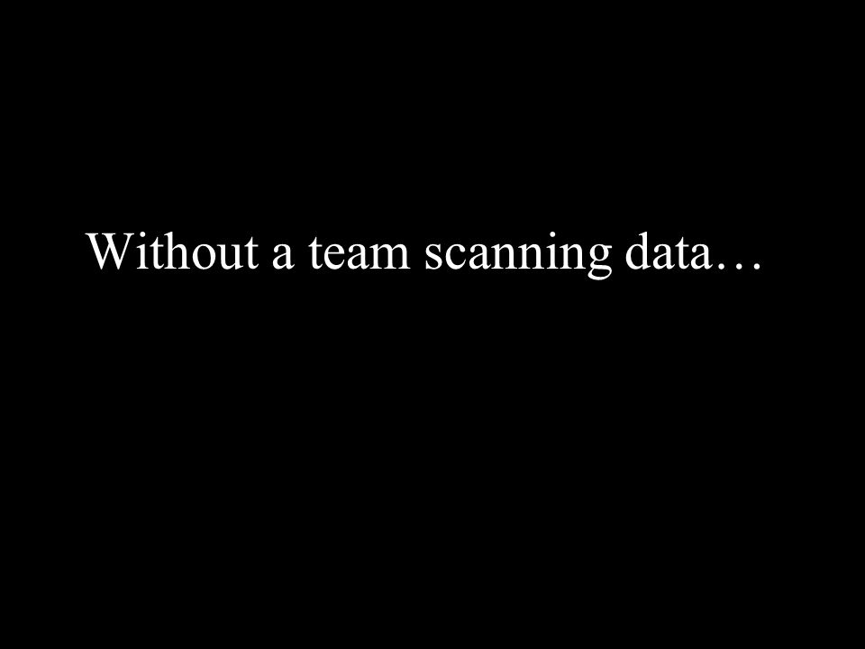 Without a team scanning data…