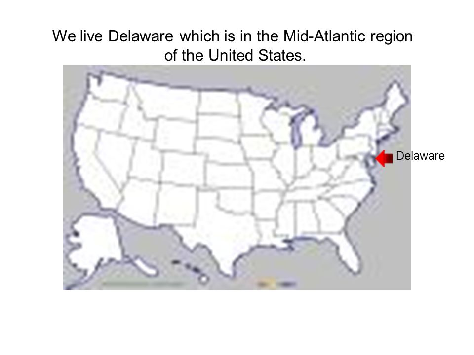 We live Delaware which is in the Mid-Atlantic region of the United States. Delaware