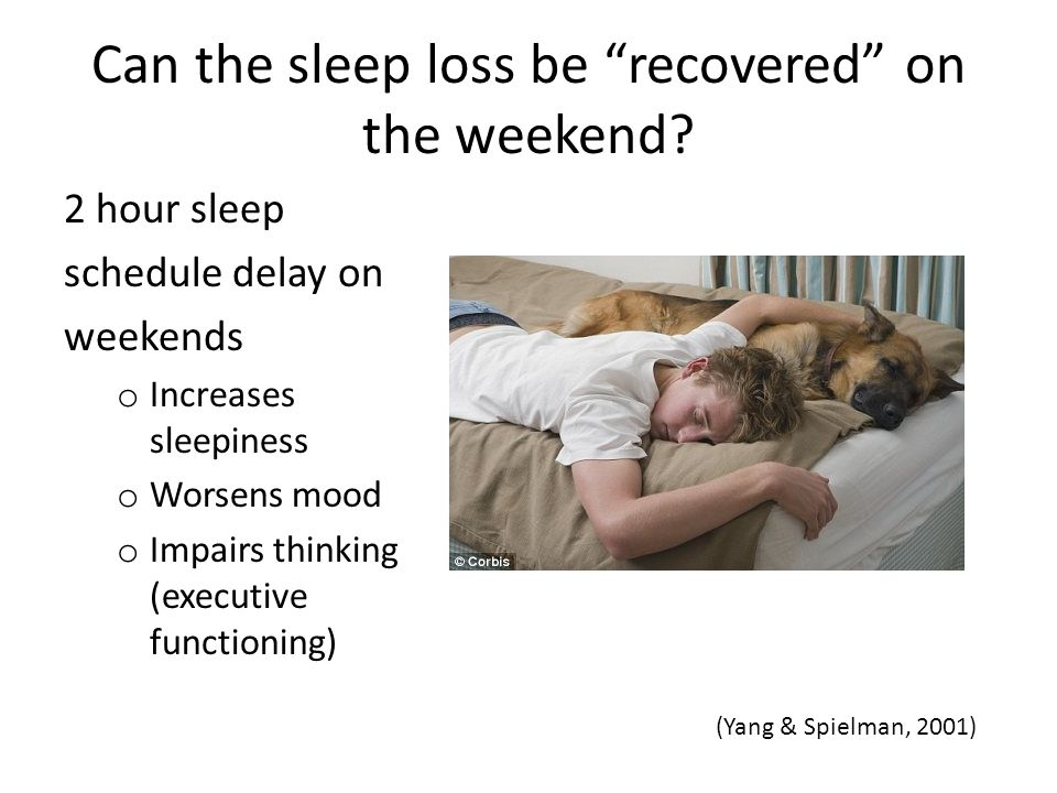 Can the sleep loss be recovered on the weekend.