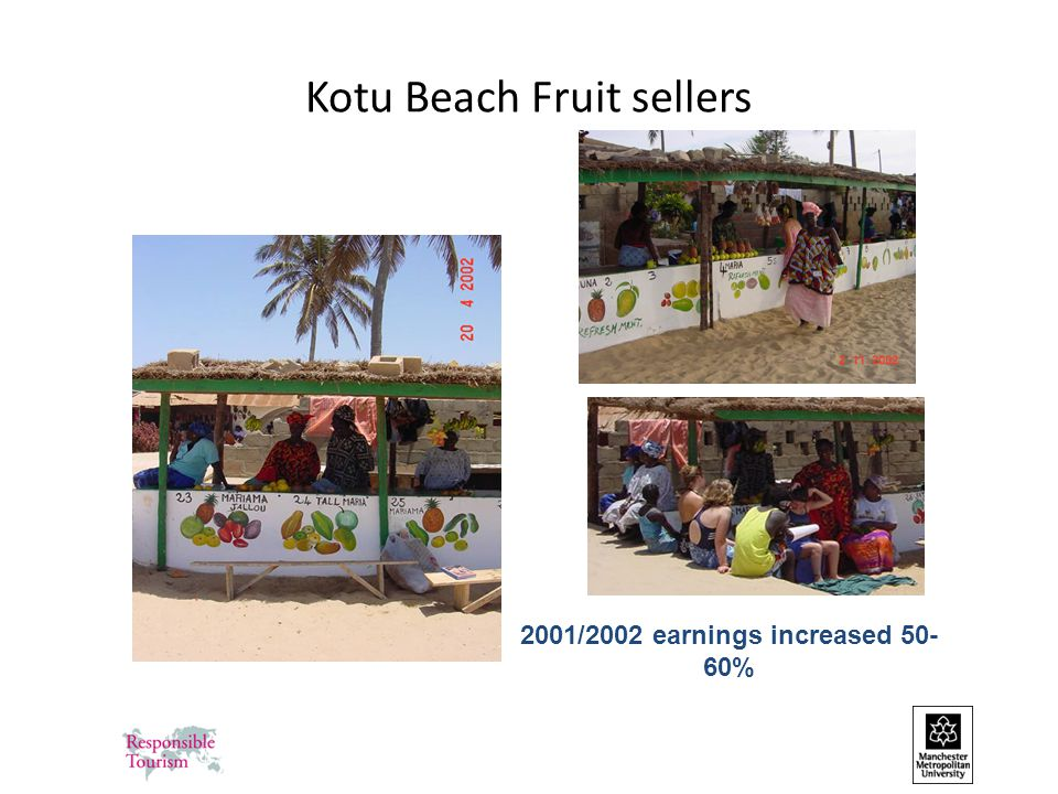 Kotu Beach Fruit sellers 2001/2002 earnings increased 50- 60%