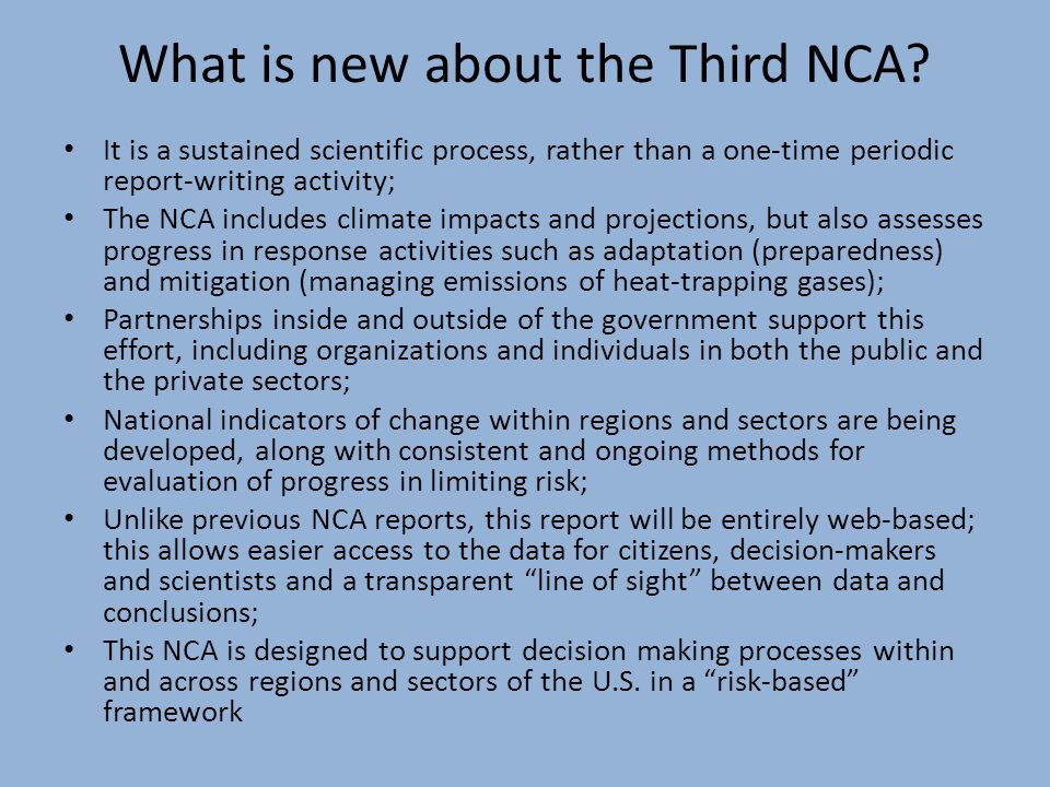 What are the Objectives of the NCA.