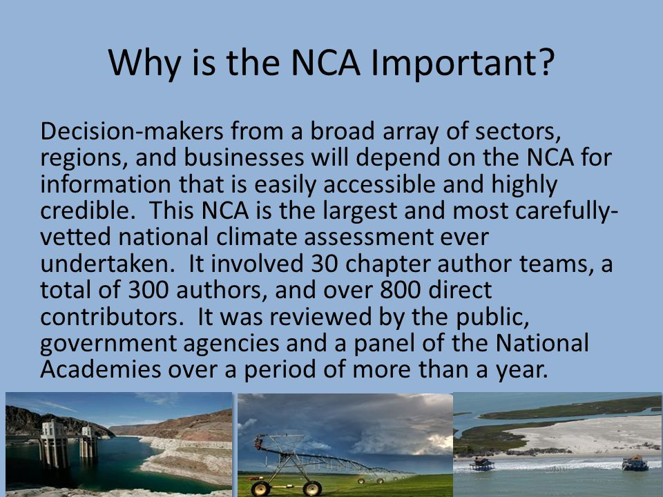 Why is the NCA Important.