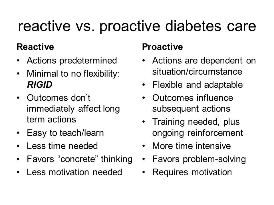 reactive vs.