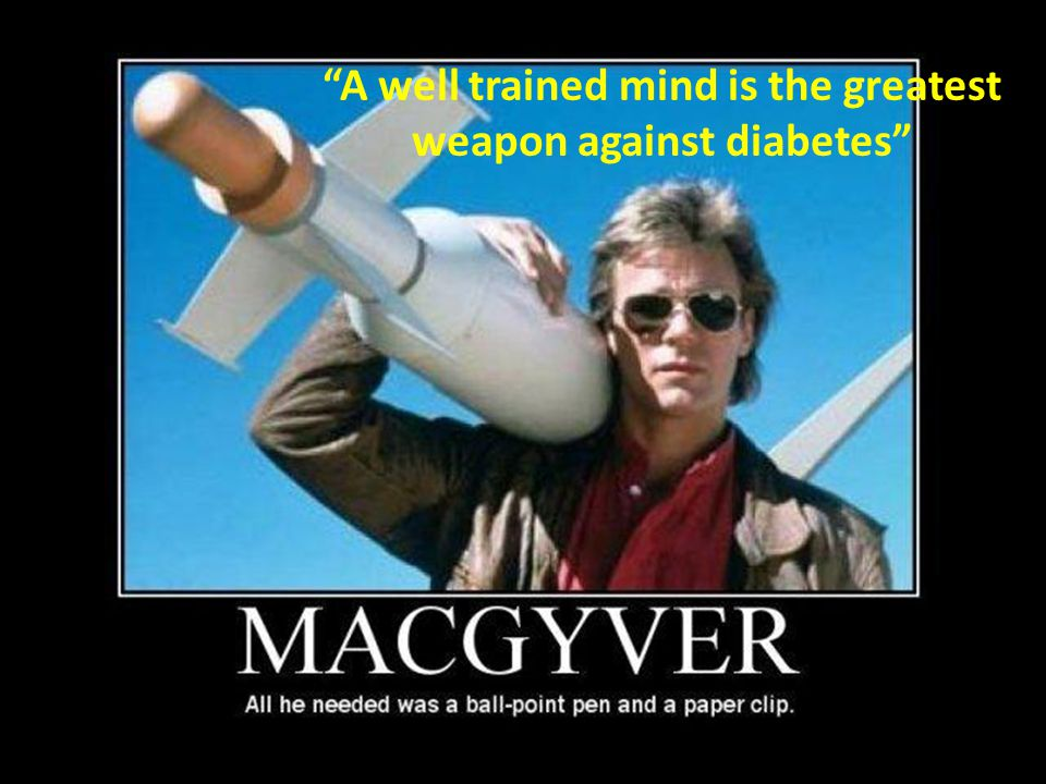 A well trained mind is the greatest weapon against diabetes