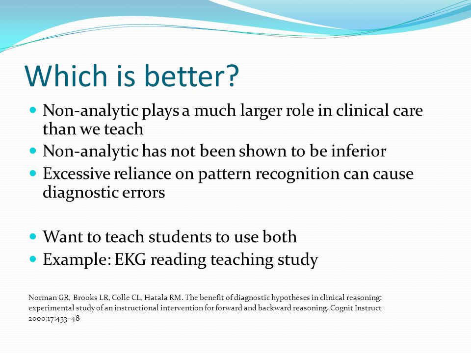 Faculty Observer Examples How well learner incorporates geriatric clinical reasoning domains described at beginning of presentation.