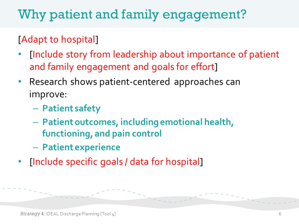 Why focus on discharge planning.