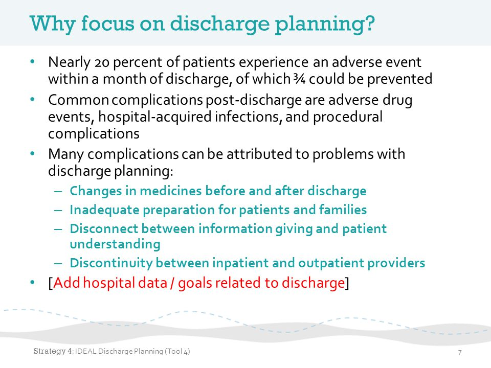 What is IDEAL Discharge Planning.