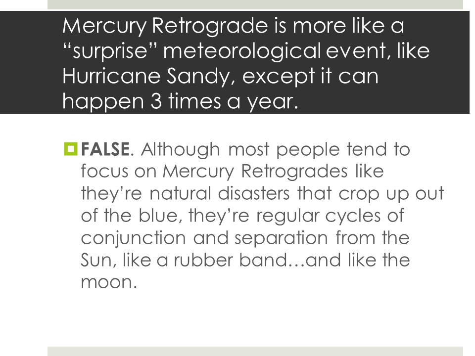 A Void Moon + Mercury Retrograde=??.