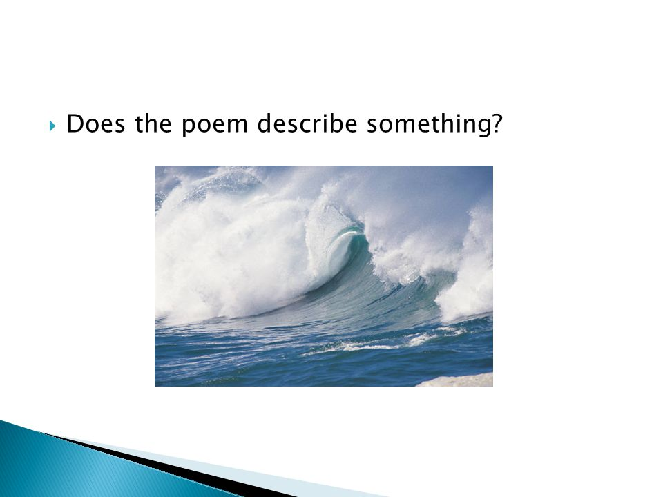Does the poem describe something?