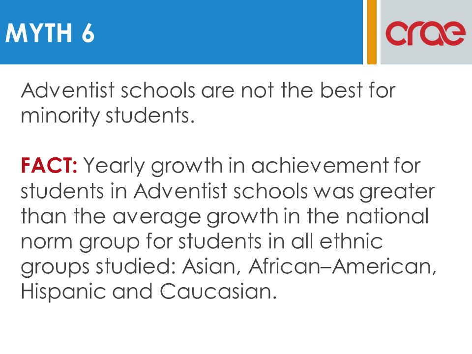 Adventist schools are not the best for minority students.