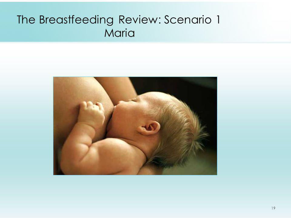 19 The Breastfeeding Review: Scenario 1 Maria