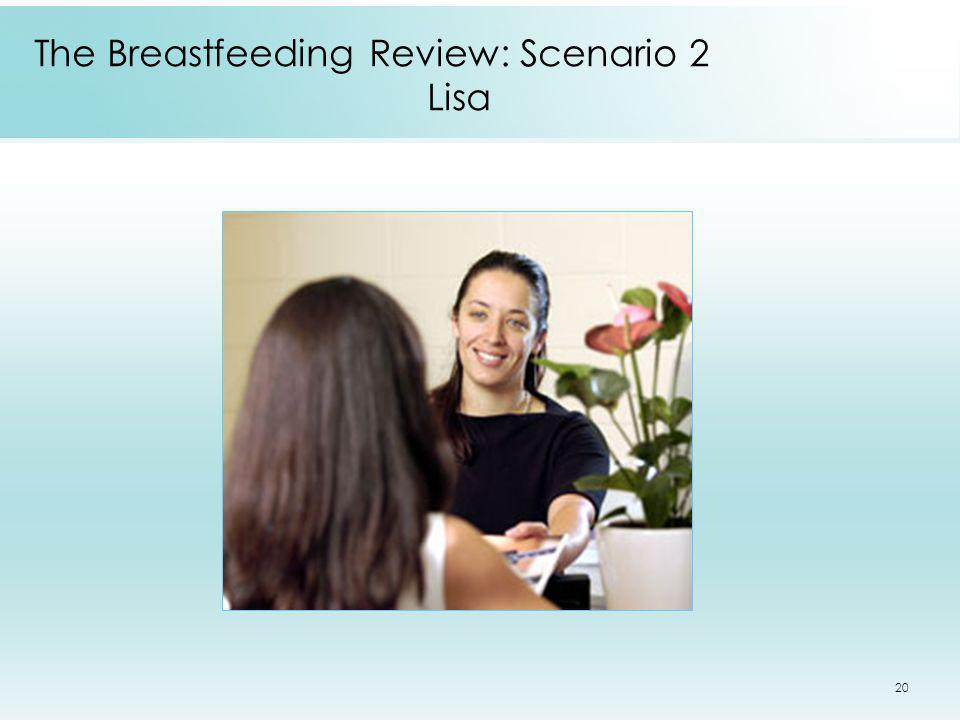 20 The Breastfeeding Review: Scenario 2 Lisa