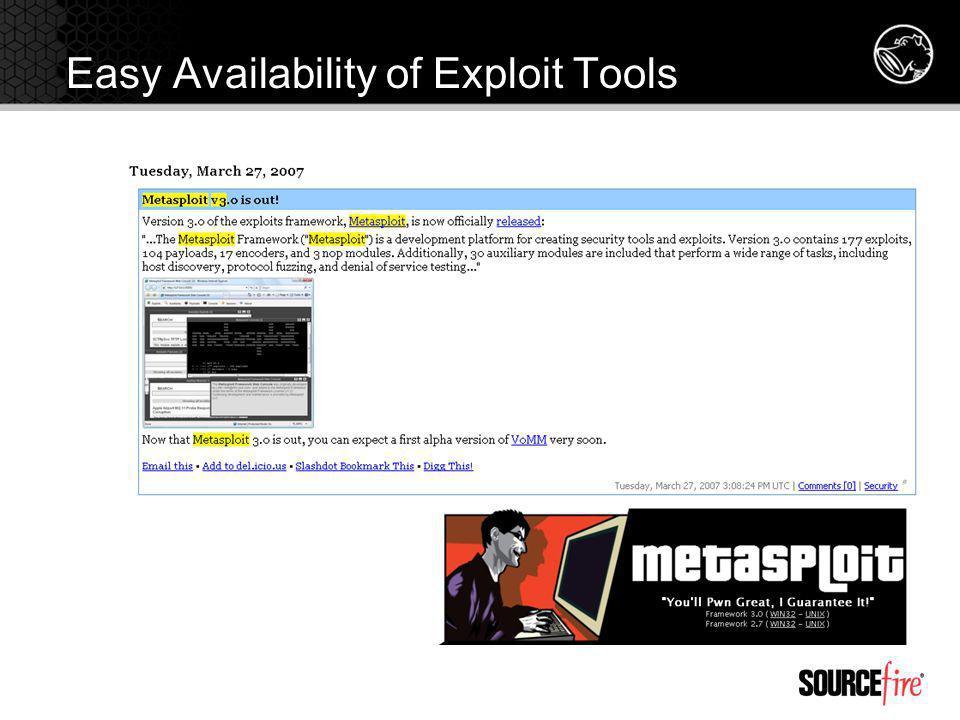 Easy Availability of Exploit Tools