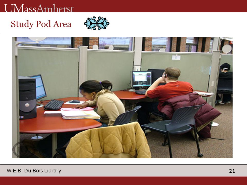 21 W.E.B. Du Bois Library Study Pod Area