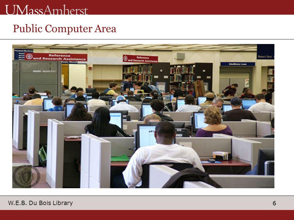 6 W.E.B. Du Bois Library Public Computer Area